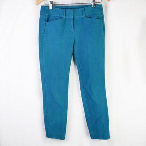 Ann Taylor LOFT Teal Blue Marisa Skinny Pants 2P